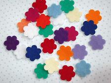 25 X  DIE CUT SMALL FELT FLOWERS - QUALITY  100% WOOL FELT