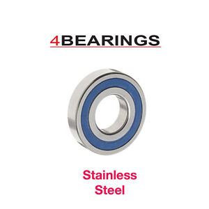 STAINLESS STEEL BEARINGS SIZES 6200 - 6206 2RS