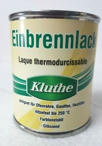 125 ml x 4 ( 500 ml ) Kluthe Einbrennlack schwarz L / 19,78 €
