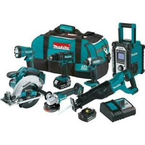 Makita 7-Piece Tool Combo Kit Hammer Driver Drill 18V LXT Lithium-Ion Cordless