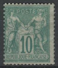 "FRANCE STAMP TIMBRE N° 65 "" SAGE 10c VERT TYPE I "" NEUF x TB A VOIR   N143"