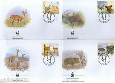 Argentina 2002 Pampas Deer Chacoan peccary Sc 2192 Wildlife Animal Fauna WWF FDC