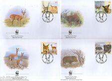 Argentina 2002 Pampas Deer Chacoan peccary Sc 2192 Wildlife Animal Fauna WWF FDC