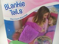 Tails Mermaid Tail Blanket for Adults and Teens (Purple and Seafoam)