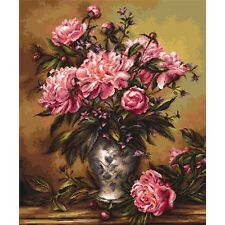 Gobelin Needlepoint Tapestry embroidery Kit Peonies Luca-S Petit point