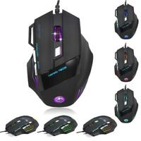 5500 DPI 7 Button RGB LED Optical USB Wired Gaming Mouse Mice PRO For PC Laptop