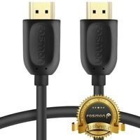 Fosmon 15FT Premium 4K UHD 3D Ready High Speed HDMI Cable Cord Plug w/ Ethernet