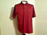 Greg Norman Play Dry Men's Red Polo Golf Short Sleeve Shirt Size Medium