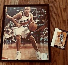 Jason Kidd Autographed Framed Picture & Collector Card