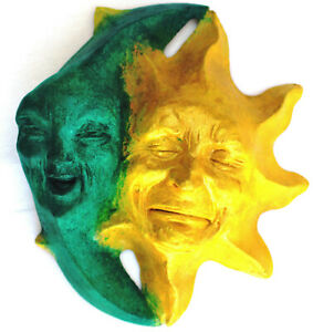 """8"""" Sun and Moon Face Sculpture Adds an Appealing Touch, Indoors or Out"""