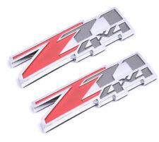 2x Red Small Z71 4x4 Emblem Badge for GMC Chevy Silverado 2500 Sierra