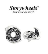 Storywheels Originale 925 argento e diamante DELFINO Charm Bead, Mare, Vacanza
