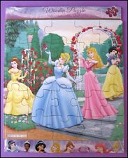 Disney PRINCESS Wooden 25 Piece Jigsaw Puzzle Kids Party Favor Toy FREE POST