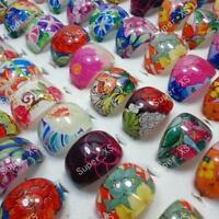25pcs Children Flower Resin Rings Wholesale Jewelry Lots Lovely