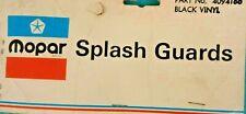 NOS MOPAR 1977- 90 PLYMOUTH HORIZON SPLASH GUARDS, BLACK W- GOLD LOGO, 2 pairs