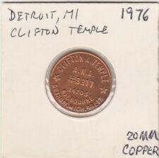 Lam(A) Token - Detroit, Mi - Clifton Temple - 1976 - 20 Mm Copper