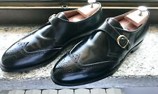 💥Alden 1672💥Made in USA💥Black CORDOVAN💥Single Monk strap Men shoes US 10.5
