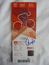 Official London 2012 Peter Kennaugh Signed Track Cycling Ticket *Ltd Edition*