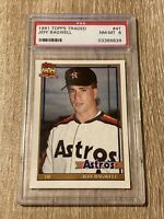 JEFF BAGWELL 1991 Topps Traded #4T Vintage Graded RC Rookie Card PSA 8 ASTROS