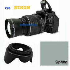 TELEPHOTO ZOOM LENS FOR NIKON D3200 D3000 D5100 D5000 D5200 D40 D60 + LENS HOOD