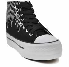 Tanggo Gretchen Fashion High Cut Sneakers Women's Shoes (BLACK) SIZE 38