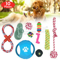 ROPE TOYS DOG PET OUTDOOR TUG TOUGH DOG TOYS UK STOCK SETS 10 PIECES