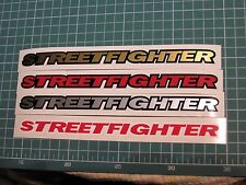 4 x STREET FIGHTER Logo Decal sticker vinyl caliper brake custom