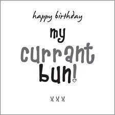 """Happy Birthday my Currant Bun!"" (Son) Card fun Cockney rhyming slang"