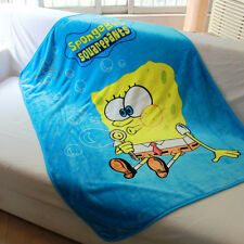 spongebob yellow coral fleece SMALL blanket rug blankets U160 little quilt new