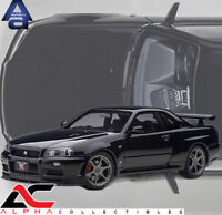 PREORDER AUTOART 77407 1:18 NISSAN SKYLINE GT-R (R34) V-SPEC II (BLACK PEARL)