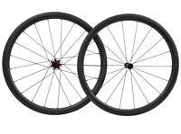 40mm Carbon Wheelset Rim brake 700C Road Bike Race Matt Clincher Cycle V brake