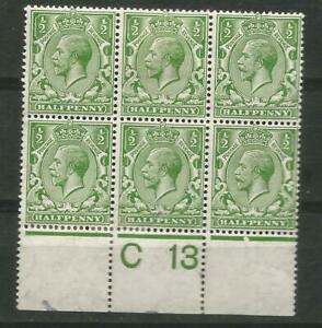 Great britain Scott# 159a MH-MNH booklet plane of 6  1913