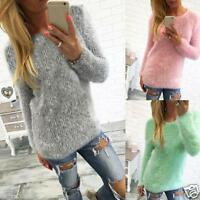 Womens Casual Long Sleeve Jumper Pullover Sweaters Shirt Loose Blouse Tops