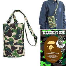 A Bathing Ape Bape Shoulder Crossbody Bag Green Camo Wallet Purse