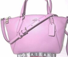 Coach F57563 Mini Kelsey Satchel Crossbody In Lilac Pebbled Leather NWT $250