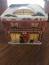 Christmas Tin Canister 2002 Hersheys Village Series - General Store Series 3 B65
