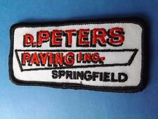 D PETERS PAVING INC SPRINGFIELD PATCH VINTAGE EMPLOYEE UNIFORM ONTARIO CANADA