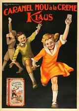 Metal Sign Caramel Klaus Bonfatti 1 1920S French Childrens Candy A3 16x12 Alu