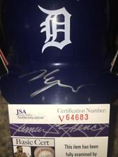 MATT MANNING DETROIT TIGERS RARE FUTURES JSA SIGNED BASEBALL MINI HELMET ALG COA