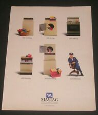 1986 Maytag Appliances Ad, Washers, Dryers, Stoves, Lonely Maytag Repairman