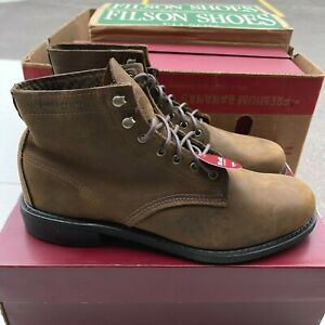 NEW Wolverine Kilometer Boots W40224 Mens 8.5 M Light Brown Leather Lace Up