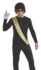 MICHAEL JACKSON GOLD SASH Adult King of Pop Halloween    b212