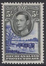 BECHUANALAND SG127 1938 5/- BLACK & DEEP ULTRAMARINE MTD MINT