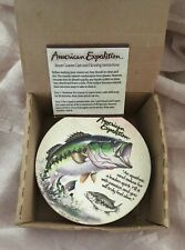 Americana Expedition Set of 4 Stone Coaster - Large Mouth Bass Ctst-111