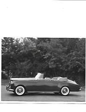 "ROLLS ROYCE SILVER CLOUD II D'HEAD COUPE ORIGINAL PRESS PHOTO ""Brochure related"