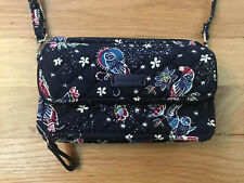 Vera Bradley Holiday Owls RFID All in One Crossbody Bag Purse Wallet Excellent