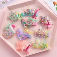 New Children Hairpins Baby Girls Glitter Star Crown Hair Clips Kids Barrettes