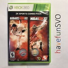 2K Sports Combo Pack: MLB 2K12/NBA 2K12 (Xbox 360, 2012) Tested & Complete