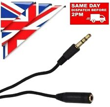 3.5mm AUDIO MALE FEMALE EXTENSION CABLE EARPHONE HEADPHONE BRAIDED AUX 1m 2m 3m
