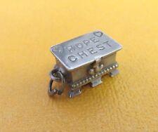 VTG 50s 60s BEAU Sterling Silver HOPE CHEST Bracelet CHARM w Opening Lid